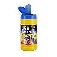 Big Wipes Scrub & clean Wipes, pack of 80