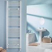 Kudox 703W Electric White Towel warmer (H)1674mm (W)600mm