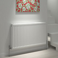Kudox Type 22 double Panel radiator White, (H)300mm (W)600mm