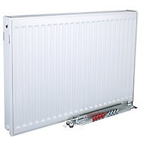 Kudox Type 22 double Panel radiator White, (H)300mm (W)1000mm