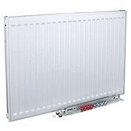 Kudox Type 22 double Panel radiator White, (H)500mm (W)500mm