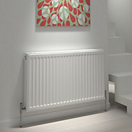 Kudox Type 22 double Panel radiator White, (H)600mm (W)400mm