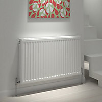 Kudox Type 21 double plus Panel radiator White, (H)600mm (W)500mm