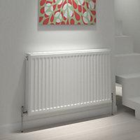 Kudox Type 21 double plus Panel radiator White, (H)500mm (W)1400mm