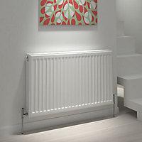 Kudox Type 21 double plus Panel radiator White, (H)500mm (W)1600mm
