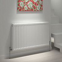 Kudox Type 21 double plus Panel radiator White, (H)600mm (W)1400mm