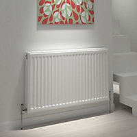 Kudox Type 21 double plus Panel radiator White, (H)600mm (W)1800mm