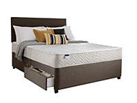 Silentnight Miracoil micro quilted Double 4 drawer Mattress & divan set