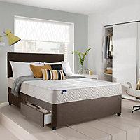 Silentnight Miracoil micro quilted Super king size 2 drawer Mattress & divan set