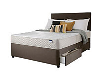 Silentnight Miracoil micro quilted 4 Drawer Super king Divan set