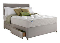 Silentnight Miracoil tufted ortho Double 4 drawer Mattress & divan set