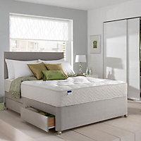 Silentnight Miracoil tufted ortho King size 4 drawer Mattress & divan set