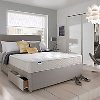 Silentnight Miracoil memory fibre King size 2 drawer Mattress & divan set