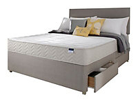 Silentnight Miracoil memory fibre Memory foam 2 Drawer Super king Divan set