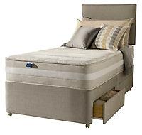 Silentnight 1200 mirapocket latex Single 2 drawer Mattress & divan set