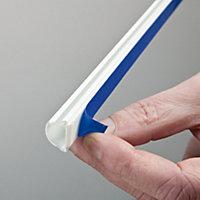 D-Line White 16mm Semi-circle Trunking length, (L)2m
