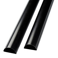 D Line Black 50mm Trunking length, Pack of 2