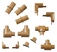 D-Line ABS plastic Wood-effect Trunking accessories (W)16mm
