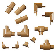 D-Line Brown 13 Piece Trunking kit, (W)16mm