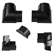 D Line Plastic Black Accessory pack (W)50mm of 5