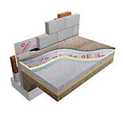 Celotex Foil faced polyisocyanurate (PIR) Insulation board (L)2.4m (W)1.2m (T)25mm
