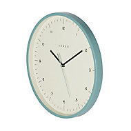 Jones Spartacus Contemporary Teal Clock