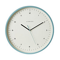 Jones Spartacus Contemporary Teal Clock