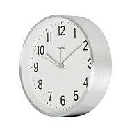 Jones California Contemporary Silver effect Quartz Mantle clock