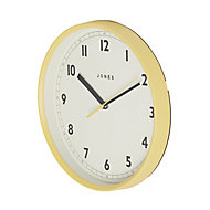 Jones Dime Contemporary Yellow Quartz Clock