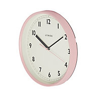 Jones Dime Contemporary Pink Quartz Clock