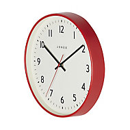 Jones Jam Contemporary Red Quartz Clock