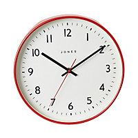 Jones Jam Contemporary Red Quartz Clock