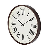 Jones Barber Contemporary Dark wood Quartz Clock
