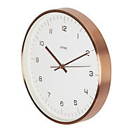 Jones Fame Copper effect Clock