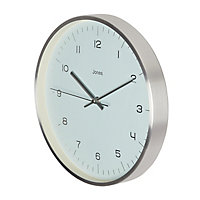 Jones Fame Contemporary Silver effect Clock
