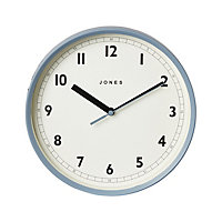 Jones Dime Contemporary Old boat blue Clock