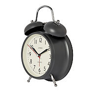 Jones Twin bell Blizzard grey Alarm clock