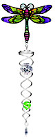Active Silver effect Dragonfly & crystal Twister ornament