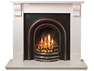 Adam Victoria White Gas Fire