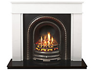 Daventry Black Cast iron effect Gas Fire Suite