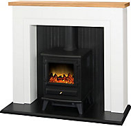 Adam Black & white Electric Stove suite
