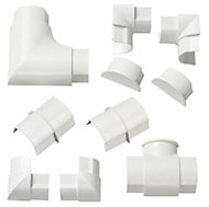 D-Line ABS plastic White Trunking accessories (W)40mm