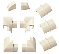 D-Line ABS plastic Magnolia Trunking accessories (W)30mm