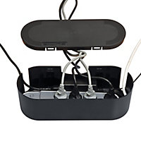 D-Line Black Cable tidy unit