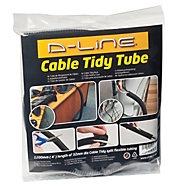 D-Line Black 32mm Cable wrap, (L)1.1m