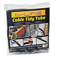 D-Line Black 32mm Cable wrap, (L)1.1m