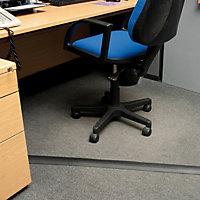 D-Line Black Floor cable cover, (L)1.8m