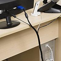 D-Line Black 10mm Cable wrap, (L)2.5m