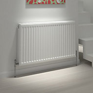 Kudox Type 21 double plus Panel radiator White, (H)600mm (W)600mm
