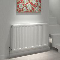Kudox Type 22 double Panel radiator White, (H)300mm (W)1800mm